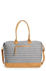Sole Society 'Donovan' Stripe Canvas Duffel Bag