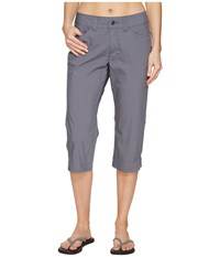 Mountain Khakis Poplin Capris Slim Fit Gunmetal Women's Capri Gray