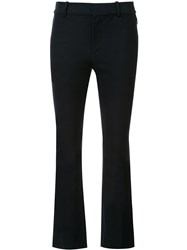 Derek Lam 10 Crosby Cropped Flared Trousers Black