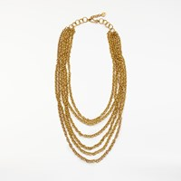 And Or Multi Layered Chain Necklace Gold