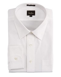 Neiman Marcus Classic Fit No Iron Pinpoint Shirt White