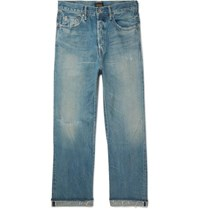 Chimala Distressed Selvedge Denim Jeans Blue