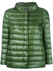Herno High Neck Buttoned Jacket Green