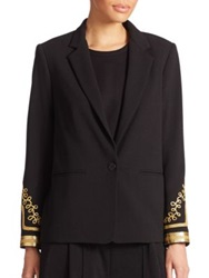 Abs By Allen Schwartz Embellished Cocktail Blazer Off White Black