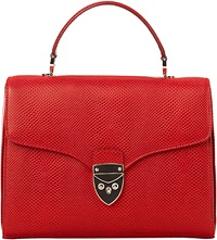 Aspinal Of London Mayfair Lizard Embossed Leather Cross Body Bag Berry
