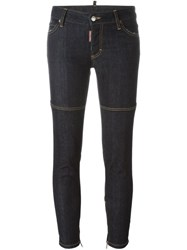Dsquared2 'Medium Waist Skinny' Jeans Blue