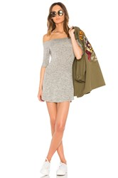 Riller And Fount Toni Off The Shoulder Dress Gray