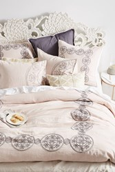 Anthropologie Embroidered Kauri Duvet Lilac