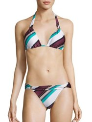 Vix By Paula Hermanny Bia Vintage Striped Tube Bikini Top
