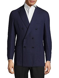 Brioni Solid Cashmere Jacket Blue Steel