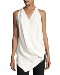 Urban Zen Transformer Draped Sleeveless Top Ivory