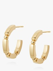 Daisy London Stacked Bead And Bar Hoop Earrings Gold