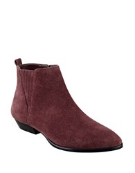 Ivanka Trump Avali Suede Booties Burgundy