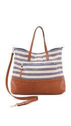 Splendid Emerald Bay Tote Metallic Blue Stripe