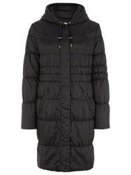 Planet Quilted Hooded Coat Black