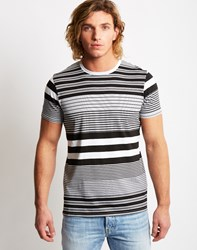 Edwin Mixed Striped T Shirt Black