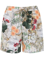 Lygia And Nanny Printed Gil Swim Shorts White