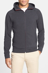 Victorinox Tailored Fit Stretch Cocona Zip Hoodie Charcoal