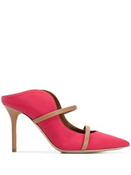 Malone Souliers Stiletto Mule Pumps Red