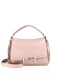 Tod's Double T Leather Messenger Bag Pale Pink