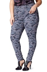 Mblm By Tess Holliday Plus Size Women's Camo Stretch Skinny Jeans