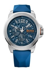 Hugo Boss Men's New York Quartz Multi Function Watch Blue