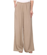 Bcbgmaxazria Nalan Wide Leg Pants Khaki Women's Casual Pants
