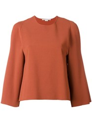 Stella Mccartney Cut Out Detail Sweatshirt Yellow Orange