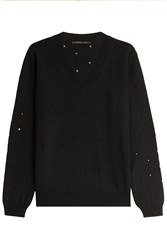 Agnona Cashmere Pullover With Cut Out Detail Black