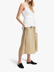 French Connection Crepe Belted Cami Top Summer White