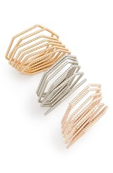 Women's Topshop Textured Mixed Metal Stack Rings Set Of 19
