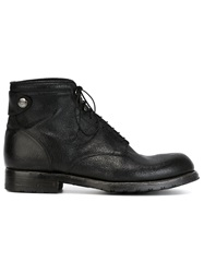 Alberto Fasciani Lace Up Ankle Boots Black
