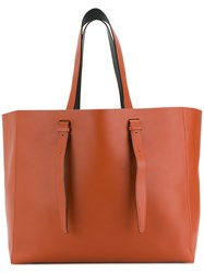 Valextra Long Strap Tote Brown