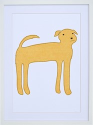 K Studio Yellow Dog Wall Art