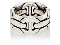 Hoorsenbuhs Men's Quad Wall Ring Silver