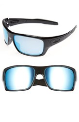 Oakley Men's Turbine H2o 65Mm Polarized Sunglasses Black Blue Black Blue