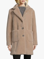 Betty Barclay Faux Sheepskin Coat Almondine
