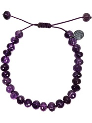 Joseph Brooks Amethyst Beaded Bracelet Pink And Purple