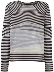 Giorgio Armani Striped Knit Jumper Black