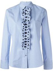 Paul Smith Ps By Stripes And Dots Blouse Blue
