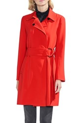 Vince Camuto O Ring Belt Trench Coat Spectrum Red