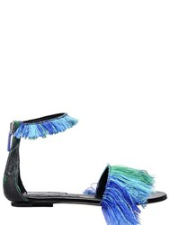 Gianluca Capannolo 10Mm Fringed Jacquard Sandals