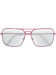 Gosha Rubchinskiy Retrospective Future Sunglasses Red