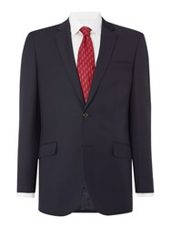 Simon Carter Tailored Twill Single Breasted Jacket Navy