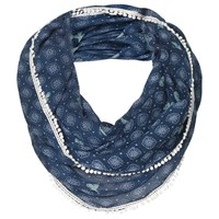 Fat Face Geo Butterfly Print Snood Navy