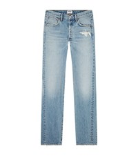 Agolde Straight Leg Reunion Division Jeans Blue