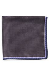 Men's J.Z. Richards Silk Pocket Square Black