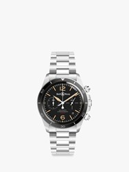 Bell And Ross Brv294 Her St Sst 'S Heritage Chronograph Automatic Date Bracelet Strap Watch Silver Black