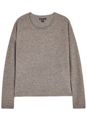 James Perse Taupe Boucle Cashmere Jumper
