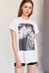 Urban Outfitters Blondie And Bowie Tee White